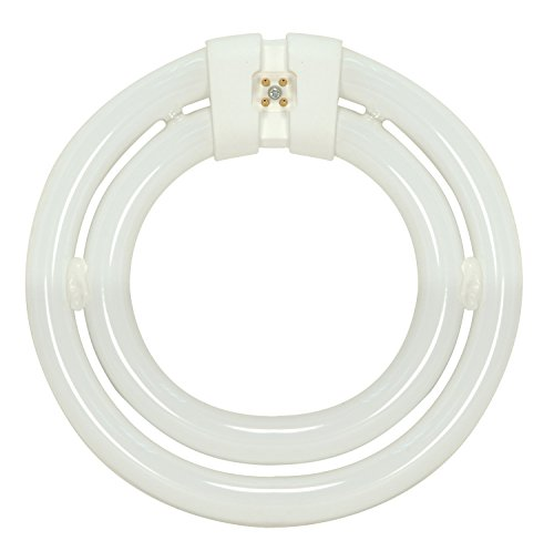Satco S6596 3000K 55-Watt 4 Pin T9 2C Circline Lamp, Soft White
