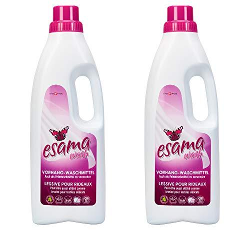 ESAMA 2x1L Vorhang-Waschmittel Feinwaschmittel Für Vorhänge Gardinen-pflege