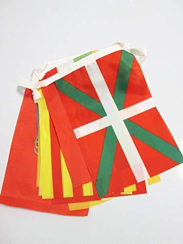 AZ FLAG Guirnalda 5 Metros 17 Banderas de Las 17 COMUNIDADES AUTONOMAS DE ESPAÑA 21x15cm - Bandera REGIONES ESPAÑOLAS 15 x 21 cm - banderines
