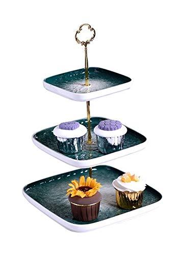 Soporte para tartas de la tarde Moderna Minimalista Luz de Lujo Postre Mesa de Pantalla Soporte Placa de Fruta Sala de estar Placa de Postre de Postrado Soporte de exhibición de la torta