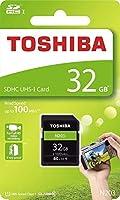Toshiba 32GB N203 SDHC UHS-I Card U1 Class 10 SD Card Memory Card 100MB/s (THN-N203N0320A4) [並行輸入品]