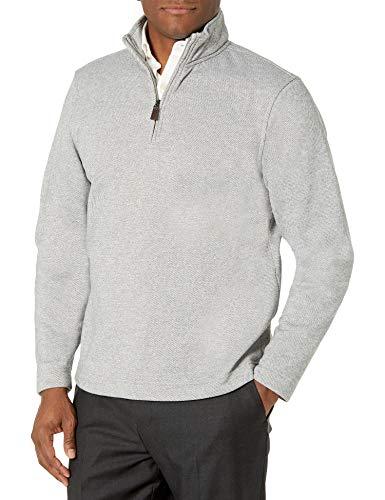 Van Heusen Herren Long Sleeve 1/4 Zip Soft Fleece Fleecejacke, grau, XX-Large