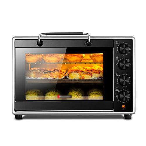 CL- Chun Li Elektrischer Minibackofen - Haushaltsbackofen mit 40 l Aluminiumbeschichtung, multifunktionaler Kleiner gewerblicher Backofen, 51 x 39,5 x 35 cm Toaster (Color : Black)