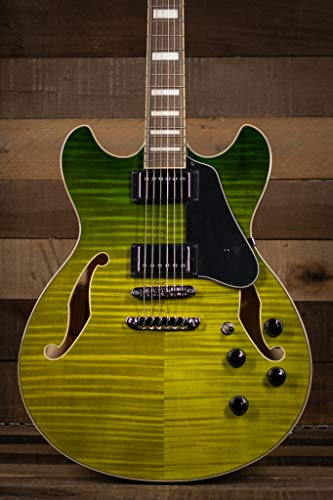 Ibanez AS Artcore AS73FM Semi-Hollow Body Electric Guitar (Green Valley)