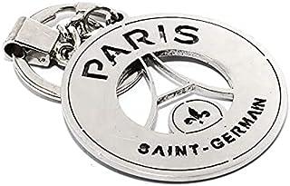 سلسلة مفاتيح للسيارة مطبوع عليها باريس سانت جيرمان مصنوعة من الستانلس ستيل