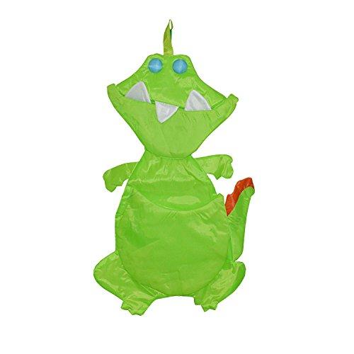 mws Portapigiamino a Forma di animaletti per cameretta Bimbi in Tessuto Impermeabile con Tasche (Taglia Unica, Coccodrillo)