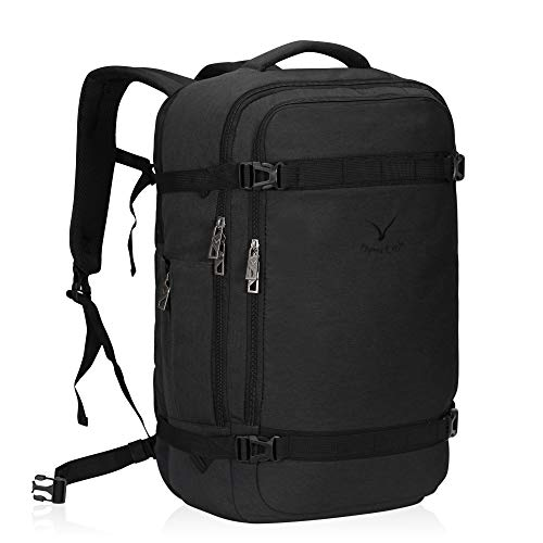 Hynes Eagle 44L Travel Backpack Airline Approved Carry on Backpack Suitcase Backpack Weekender Bag Backpack Luggage for Women Men, Dark Grey