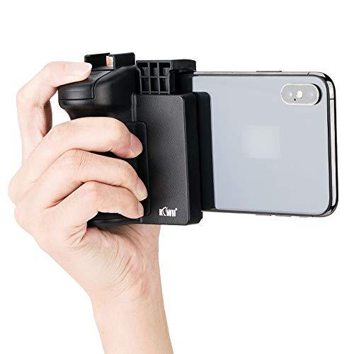 Mando a Distancia Inalámbrico para Smartphone con Soporte de Mano, Estabilizador para Selfie Vlog Vídeo Compatible con iPhone XS X XR 8+ 8 7+ 7 6S+ 6S Galaxy Mate MI etc. Móvil con 59–85mm de Ancho