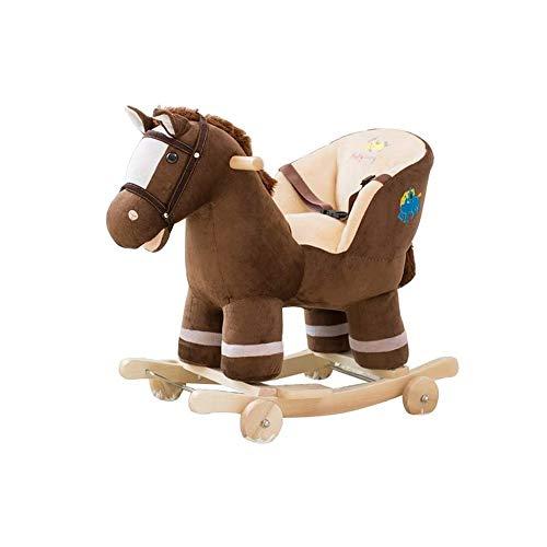 FZJDX Kindermassivholz Kinderschaukelpferd-Baby-Schaukelstuhl-Fahrt auf Spielzeug for Jungen und Mädchen