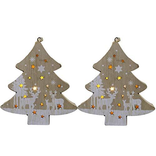 poedkl 2PC Christmas Decorations Night Light LED Christmas Wind Lantern Ornaments