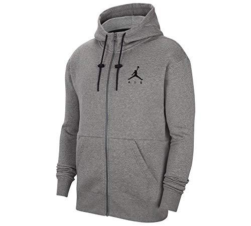 Nike Jordan Felpa da Uomo con Cappuccio e Full Zip Jumpman Air Grigia Taglia M cod CK6679-091 -9M