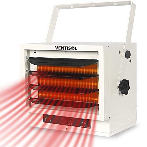 VENTISOL Space Electric Heater for Garage,Factory,Basement, Warehouse, Shop, Fan-Forced Ceiling Mount With Dual Knob Controls,3000/4000/5000W