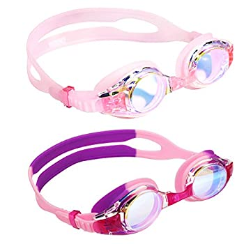 Aegend Kids Goggles Swim Goggles for Kids Age 4-16 Little Boys and Girls Youth Swim Goggle Clear Vision Soft Silicone No Leak UV Protection Anti-Fog Free Protection Case