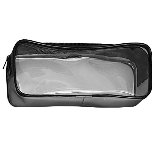 CHROME CRANE(クロム クレイン) 文具ケース 透明 ペンケース 鉛筆袋 筆箱 筆入れ ペンポーチ 収納ポーチ RB011 (01.ブラック)