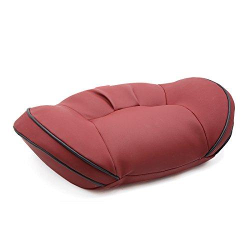 uxcell apoyo lumbar de piel sintética de color rojo oscuro resto de memoria almohada asiento para coche