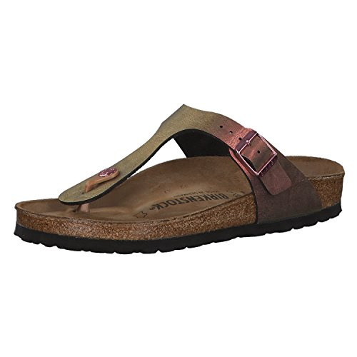 BIRKENSTOCK Damen Gizeh Birko-Flor Graceful Normal Sandale,Graceful Gemm Red (1012404),36 EU