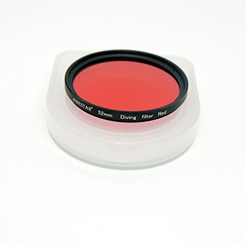 TOOKE Scuba Waterproof 52MM Red Filter for Meikon Diving Underwater Photography Camera Housing 52mm Thread Photography Camera