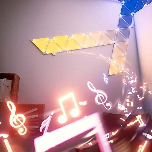 nanoleaf Aurora & Rhythm Starter Kit LED RGBW Farbwechsel-LED & Sound-Modul Starter Set inkl. 9 Panel   App-Steuerung   16 Millionen Farben   Kompatibel mit Apple HomeKit & Android, google assistant - 3