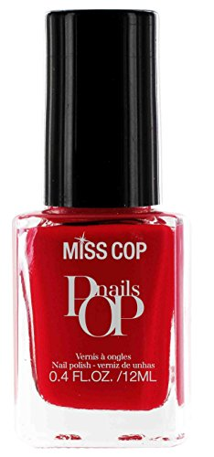 Miss Cop Vernis à Ongles Pop Nails Rouge Rubis 12 ml