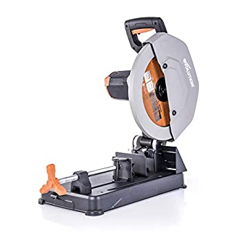 Evolution Power Tools R355CPS 14 inch Chop Saw with Multi Purpose Cutting - Cuts Through Metal Plastic Wood & More - Inch Multi Purpose Blade
