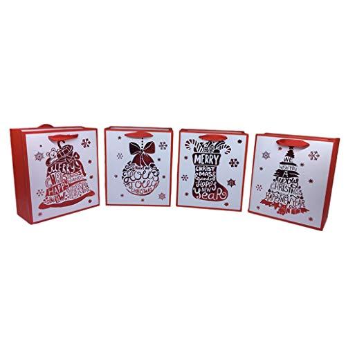 F Fityle 12Pcs Papiergeschenk Beutel Weihnachtsneues Jahr Festliches Einwickelndes Anwesendes Verpacken