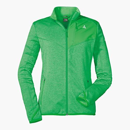 Schöffel Damen Fleece Jacket Houston1 warme und Bequeme Fleecejacke für Frauen, schnell trocknende Jacke mit Daumenschlaufen und Taschen, Island Green, 46