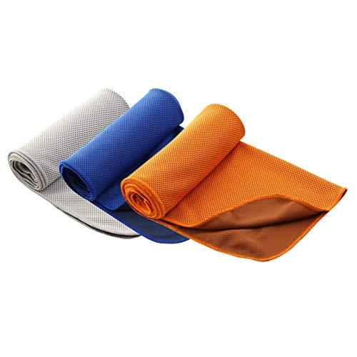 YALAN Toallas de enfriamiento para el cuello, paquete de 3, toalla grande de enfriamiento para clima cálido, 40 x 12 pulgadas