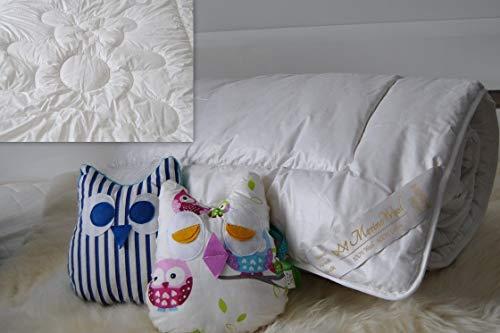 Merino Couette en Coton de Laine 500 g m² & Coton, Baby Couette 120 x 150 cm + 40 60cm