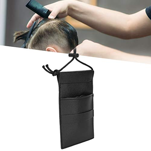 Scissors Pouch, Hair Scissors Bag Light High Capacity with Lengthen Belt Design for Salon(black)