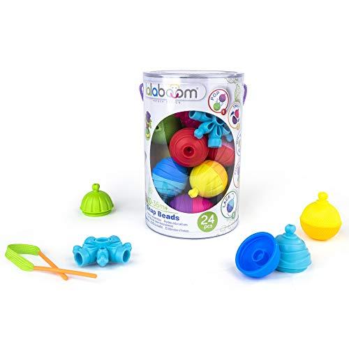 Lalaboom –BL200 Jouet d'éveil éducatif - Set de Perles et Accessoires à Assembler – Construction Formes et Couleurs - Evolutif de 10 à 36 mois + , Enfants - 24 pièces