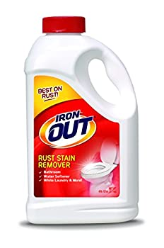 Iron OUT Powder Rust Stain Remover Remove and Prevent Rust Stains in Bathrooms Kitchens Appliances Laundry and Outdoors white 4.75 lbs.
