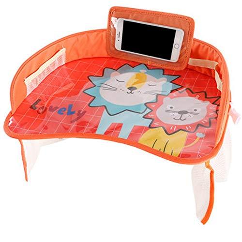 Fanuosu Plateau Voyage Enfants siège d'auto for Enfants avec des Jouets Plateau Baby Watch Mobile Video Cadre Poussette de bébé Jeu de société (Couleur : 07, Taille : 42x32x8cm)