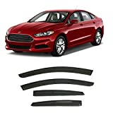 olltoz Tape-On Smoke Tinted Side Window Visor Deflectors Vent Rain Guards Compatible with Ford Fusion 2013-2020 S SE SEL Titanium Hybrid 2014 2015 2016 2017 2018 2019