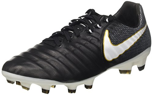 Nike Herren Tiempo Legacy Iii Fg Fußballschuhe, Schwarz (Black/white-black-metallic Vivid Gold), 41 EU