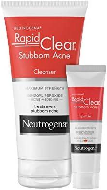 Neutrogena Rapid Clear Stubborn Acne Face Wash with 10 Benzoyl Peroxide Acne Medicine 5 fl oz product image