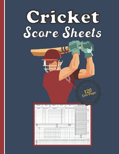 Cricket score sheets: 120 Scorekeeping to Easily Keep Track of All scores in one Convenient book, Perfect Cricket Score Keeper Notebook has room for many details of play. 8.5 x 11-inch book.
