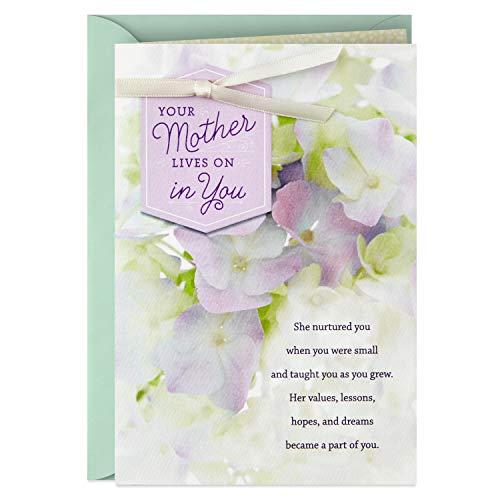 Hallmark Trauerkarte für den Verlust der Mutter (Your Mother Lives On In You)