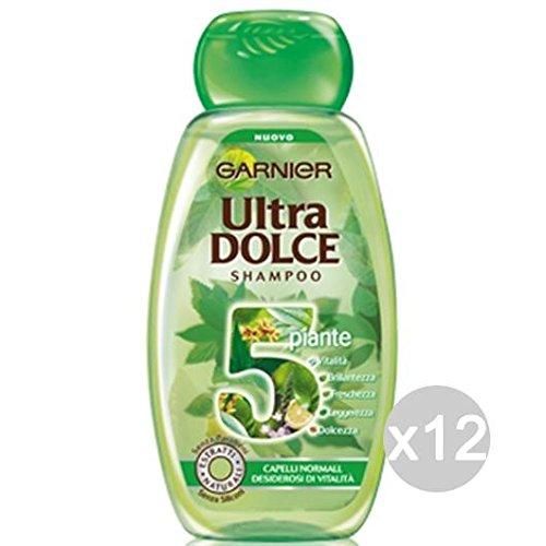Set 12 GARNIER Ultra Dolce Shampoo 5 Piante Capelli Normali Verde Cura Dei Capelli