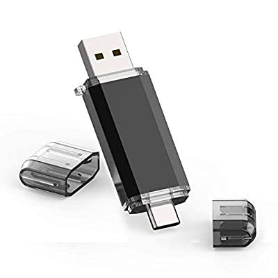 64GB USB 3.0 Type C Dual OTG Flash Drive USB C Memory Stick Thumb Drive for USB C Smartphone, Tablets, Samsung Galaxy S8, S8 Plus, Note 8, LG G6, V30 and so on - Silver (64GB 3.0)
