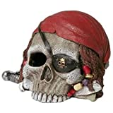 Blue Ribbon Pet Products Resin Aquarium Ornament - Pirate Skull 4 Inch