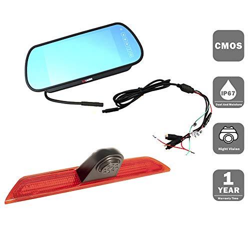 Bremslicht-Rückfahrkamera für F O R D Transit 2014-2019 mit 7 Zoll Clip-on Mirror Monitor