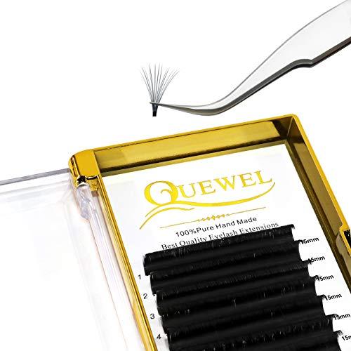 Volume Eyelash Extensions 0.05 D Curl 15mm Volume Lashes 2D-20D Easy Fan Lash Self Fanning|0.03/0.05/0.07/0.10/0.12 C/D Single 8-25mm Mix 8-15 9-16 15-20 20-25|(0.05 D 15mm)