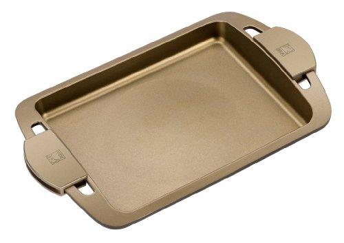 BRA Terra - Grillplatte glatt und Griffe aus Silikon, Aluminiumguss mit Antihaftbeschichtung Teflon Select, geeignet für alle Herdarten einschließlich Induktion, Terra 40 cm