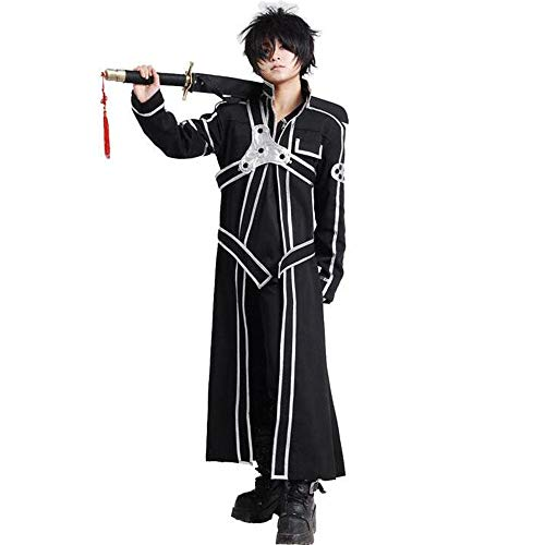Bingchuan Sword Art Online Cosplay Kirito Kirigaya Kazuto Disfraz de Cosplay Conjunto Completo Traje de Halloween para Hombres