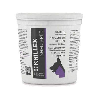 Krillex Shed-Free Pure Antarctic Krill Oil Supplement for Dogs and Cats- Made in The USA (60 Count)