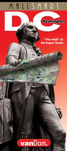 StreetSmart Washington DC Map by VanDam - Laminated pocket City Street Map of Washington DC with special National Mall detail and travel guide with ... sights, hotels and Metro map, 2019 Edition