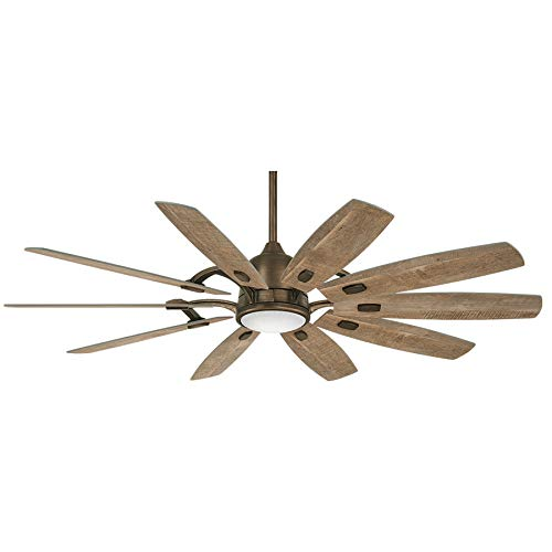 Minka-Aire F864L-HBZ Barn 65 Ceiling Fan with LED Light and DC Motor in Heirloom Bronze Finish