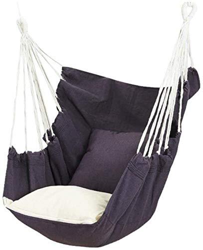 DFDFG Hamaca mecedora, sillón colgante de tiempo libre con decoración de jardín en interiores y exteriores (gris)
