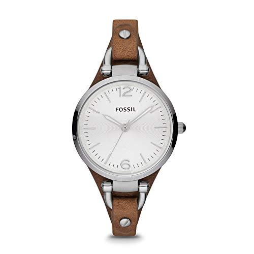 Fossil Damen analog Quarz Uhr mit Leder Armband ES3060