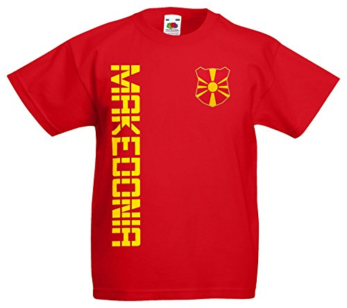 Mazedonien Makedonija Kinder-Shirt Name Nr Trikot EM-2021 Rot 104